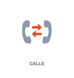 call icon premium two colors style design from vector image