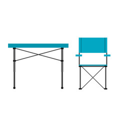 camping table and chair vector image