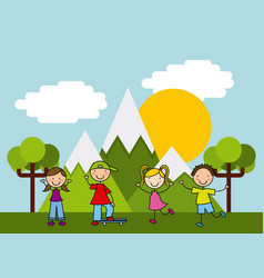 children icon design vector image