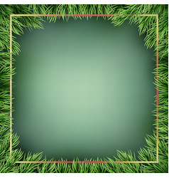 christmas background from fir tree branches eps vector image