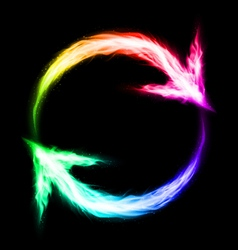 Circular blazing arrows vector image