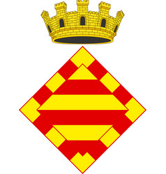 Coat of arms of alt emporda in spain vector