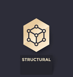 Cubic structure logo vector