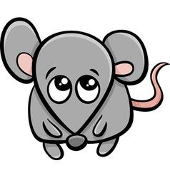 Cute mouse cartoon character vector