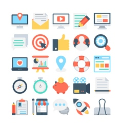 Digital Marketing Colored Icons 1 vector image