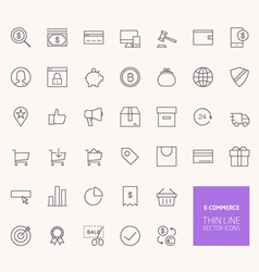 e-commerce outline icons for web and mobile apps vector image