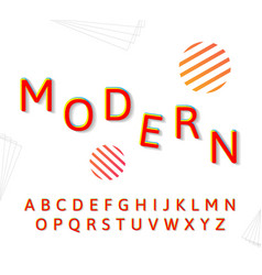 fashion modern alphabet vector image