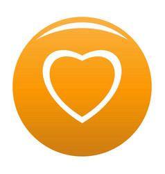 Fearless heart icon orange vector