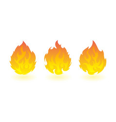 Fireballs set of fire design elements vector
