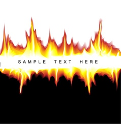 flame backgorund vector image