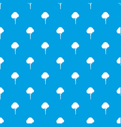 fluffy tree pattern seamless blue vector image