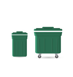 garbage can with waste vector image