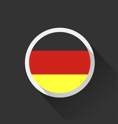 Germany national flag on dark background vector