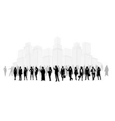 Group businessmen vector