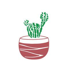 hand drawn cactus cute vector image