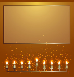 hanukkah 2-10 december judaic holiday nine vector image