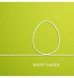 Happy Easter card with paper egg vector image