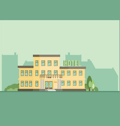 Hotel building eps10 flat vector
