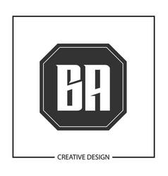 Initial letter ba logo template design vector
