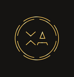 Initial xa letter logo design template abstract vector