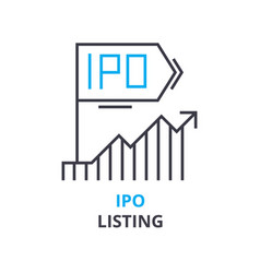 ipo listing concept outline icon linear sign vector image