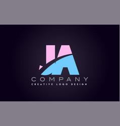ja alphabet letter join joined letter logo design vector image