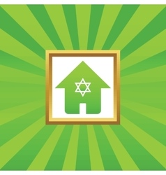 Jewish house picture icon vector