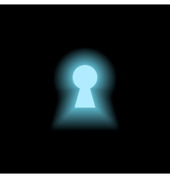 Keyhole with light vector