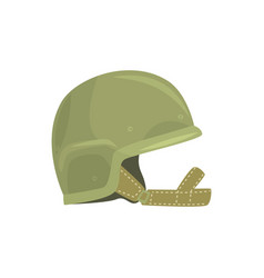 Khaki military helmet metallic army symbol of vector