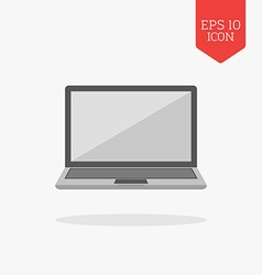 Laptop icon Flat design gray color symbol Modern vector image