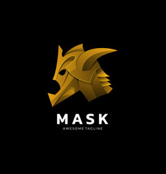 logo mask gradient colorful style vector image