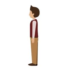 Man standing with left profile blazer vector