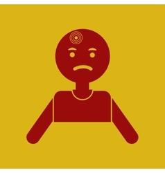 Man with headache vector