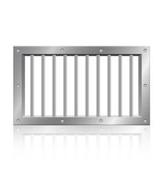 Metallic prison bars vector