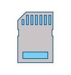 Micro sd storage technology vector
