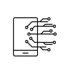 mobile smart icon - artificial vector image