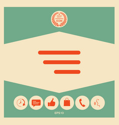 modern menu icon for mobile apps and websites vector image