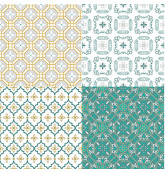 moroccan arabic seamless pattern traditional vector image