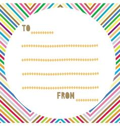 Multicolor card2 vector image