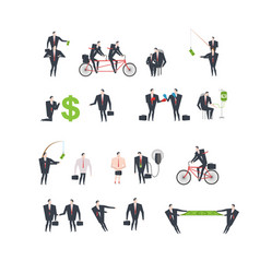 office life set corporate managers in workplace vector image