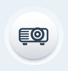 Projector icon video equipment symbol vector