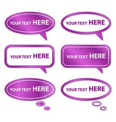 Purple Speech Bubbles vector