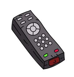 remote control cartoon hand drawn image vector image
