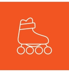Roller skate line icon vector image