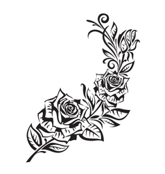 rosebush vector image