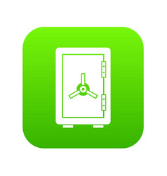 safe icon digital green vector image
