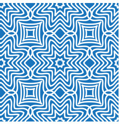 Seamless moire pattern with waving circle lines vector