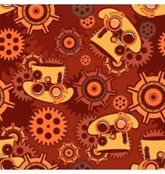 Seamless pattern Steampunk mechanism vector