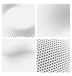 set of dotted abstract forms vector image