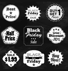set of labels with sale advertisement text vector image